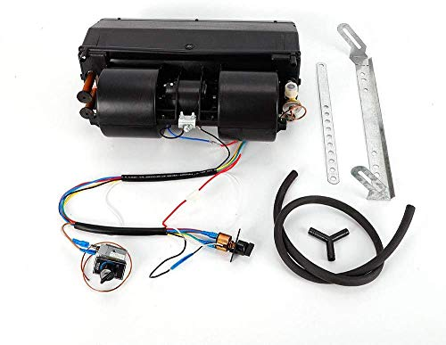 Gdrasuya10 A/C Air Conditioning Evaporator Assembly Unit and Heater Kit, Under-Dash Heat Cooler Assembly Unit 3 Speed 12V Electrical Thermostat 600 CFM for Car Truck