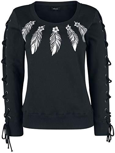 Full Volume by EMP Sweatshirt mit Print und Schnürung Mujer Sudadera Negro L