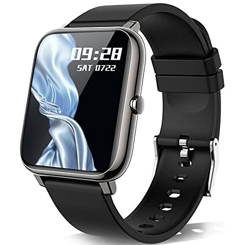 KALINCO Montre Connectée Hommes Femmes Montre Sport Podometre Moniteur de Sommeil/Fréquence Cardiaque Tension artérielle SpO2 Smartwatch Montre Intelligente Bracelet Connecté pour Android iOS