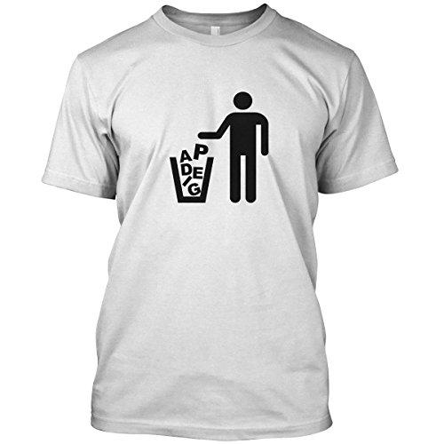 net-shirts Gegen Pegida T-Shirt, Größe L, Weiß