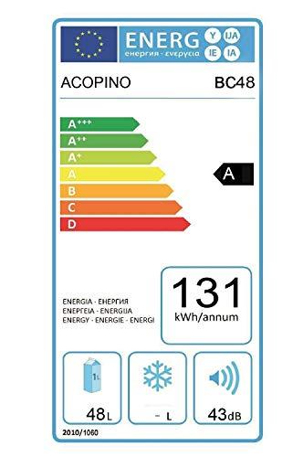 Acopino-BC48-Minikhlschrank-Thermoelek-Khlschrank-in-schwarz-mit-Glastr-LED-Beleuchtung