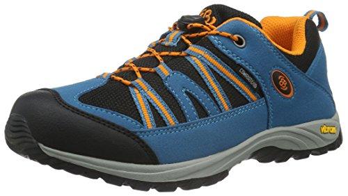 EB Kids 421060, Chaussures de Randonnée Basses Mixte Enfant, Bleu (Petrol/Schwarz/Orange), 37 EU
