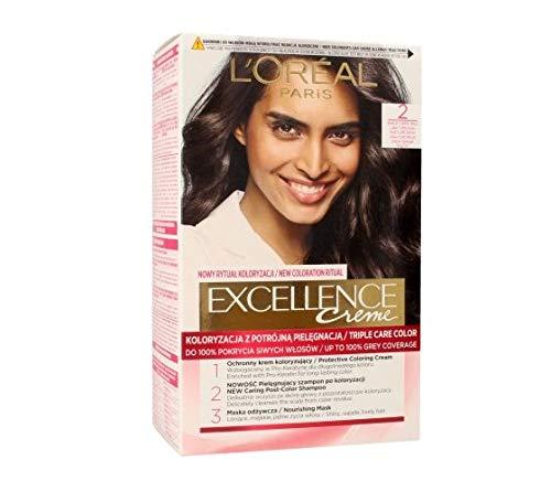 L'oreal Loreal Excellence Creme Haarfärbemittel 2 Sehr Dunkelbraun
