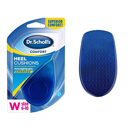 Dr. Scholl's HEEL CUSHIONS with Massaging Gel Advanced // All-Day Shock Absorption and Cushioning to Relieve Heel Discomfort (for Women's 6-10, also available for Men's 8-13)
