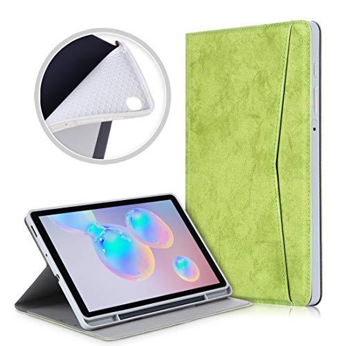 Fundas para tabletas Galaxy For el caso de Samsung Galaxy Tab S6 Lite P610 / P615 mármol Textura del paño de TPU horizontal de cuero del tirón con el sostenedor y la tarjeta de ranura y ranura Pen Fun