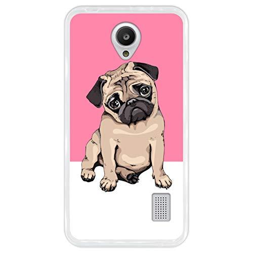 Funda Transparente para [ Huawei Y635 ] diseño [ Cachorros Beige Pug posando 1 ] Carcasa Silicona Flexible TPU