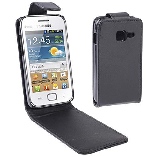 YUNCHAO Funda Protectora Funda de Cuero con Tapa Vertical para Samsung Galaxy Ace Duos S6802, Negro Caja del teléfono Celular