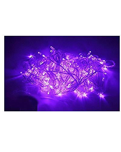 Samgu 5 mètres Violet Lumière chaîne de LED 50Leds LED Guirlande led lampe ampoule éclairage étanche pour jardin décoration extérieur intérieure lumineuse, idéal pour Noël , fêtes , mariages, maison, sapin de noël