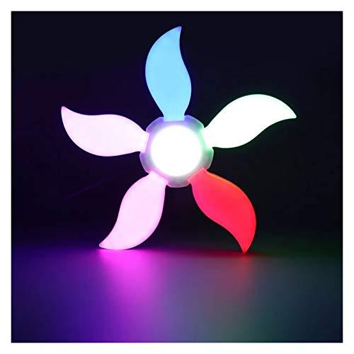 Yaoqshu Lámpara de Garaje 60/75W 5 Hoja 4800lm LED Garaje Light E27 Taller Luces de Techo Lámpara de Techo Lámpara deformable Iluminación Industrial AC 85-265V 220V