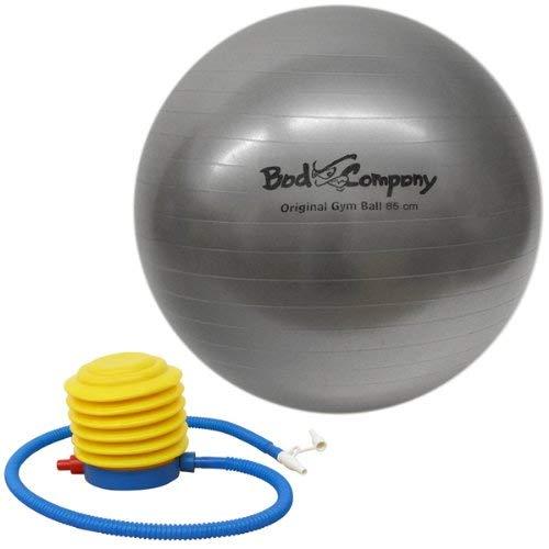 Bad Company Gymnastikball I Anti-Burst-System Fitnessball mit Ballpumpe und Zwei Ventilverschlüssen I Größe 55 cm