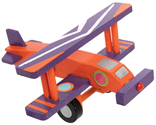 Baker Ross 3D Wooden Aeroplane Kits — Ideal for Kids' Arts and Crafts, Gifts, Keepsakes and More (Pack of 2)