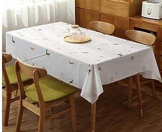 Yllang Couverture de Table Linge de Table en PVC Lavable Nordique imperméable Nappe jetable en Plastique rectangulaire Tis...
