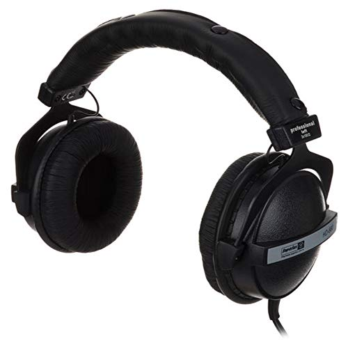 Superlux HD660 Geschlossene Bügelkopfhörer, Schwarz/Weiß