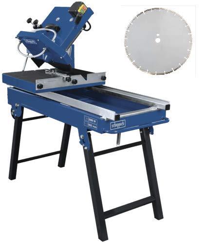 SCHEPPACH SET HSM3500   Fliesenschneider   Steintrenner   Inkl. Ersatztrennscheibe segmentiert   2000 Watt   350 mm Scheibendurchmesser   Kreuzschnitt   Fahrvorrichtung