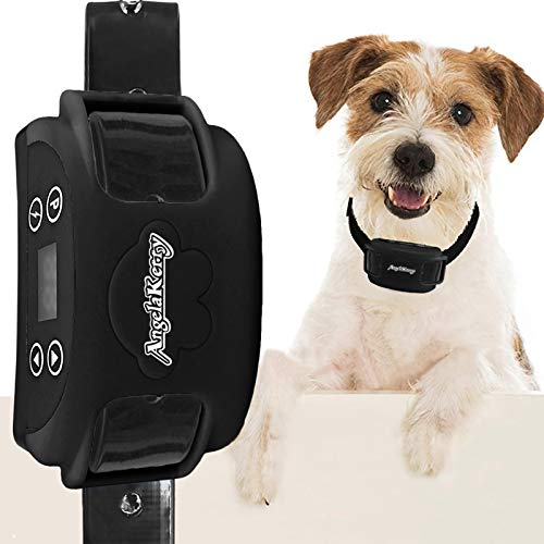 AngelaKerry Wireless Dog Fence System with GPS, Outdoor Pet Containment System Rechargeable Waterproof Collar 850YD Remote for 15lbs-120lbs Dogs (Black, 1pc GPS Receiver by 1 Dog)