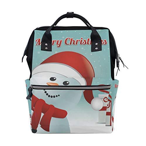 Sac à langer à grande capacité pour bébé - Sac à dos pour bébé - Hello Merry Christmas - Sac à dos de voyage étanche - Multifonction - Pour maman et papa