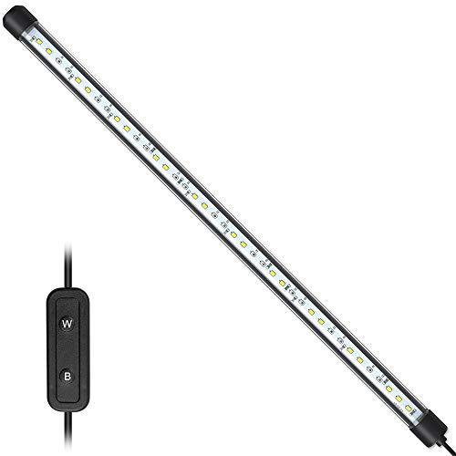NICREW Wasserdichte LED-Lampe, Tauchrohrlampe für Aquarienpflanzen, weißes, rotes und blaues Licht mit kabelgebundenem Controller, 8W