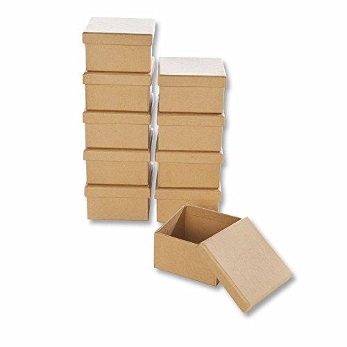 Creleo 790258 de cartón para-de Cajas de Rectangular de Manualidades y de Cajas con Tapa, 10 pcs, 7,5 x 4,5 cm