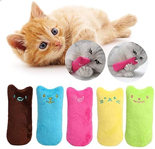 Legendog Spielzeug mit Katzenminze, 5 Stück Niedlich Plüsch Daumen Geformt Katzenspielzeug Katzenminze Set | Katzenspielzeug Beschäftigung | Spielzeug Katze | Spiele für Katzen Kitten (1#)