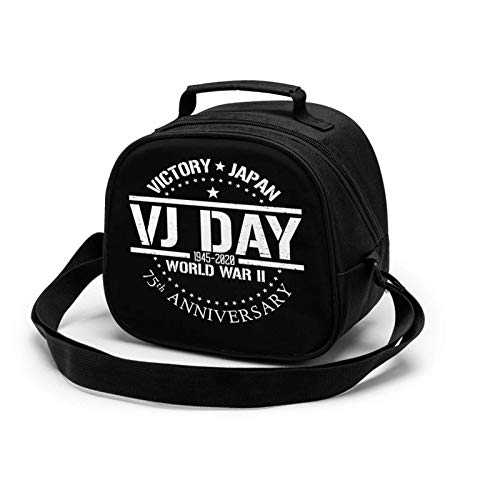 WW2 VJ Day 75th Anniversary 1945-2020 Insulated Lunch Bag Mini Cooler Thermal Meal Tote Kit with Handle for Girls,Boys School Travel Picnic