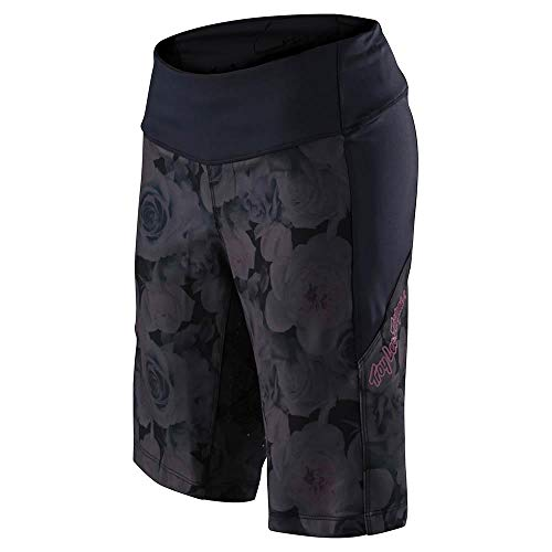 Troy Lee Designs Luxe Short Shell - Mujer Floral Negro, M