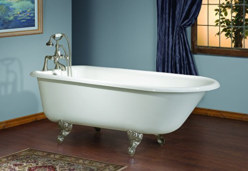 Find Discount Cheviot Products Inc. 2100-WC-PB Cheviot Products Traditional Cast Iron Bathtub with F...