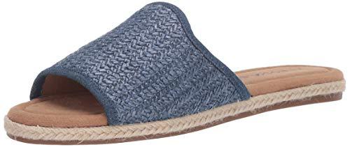 Aerosoles Women's DENVILLE Flat Sandal, DK Blue Combo, 7.5