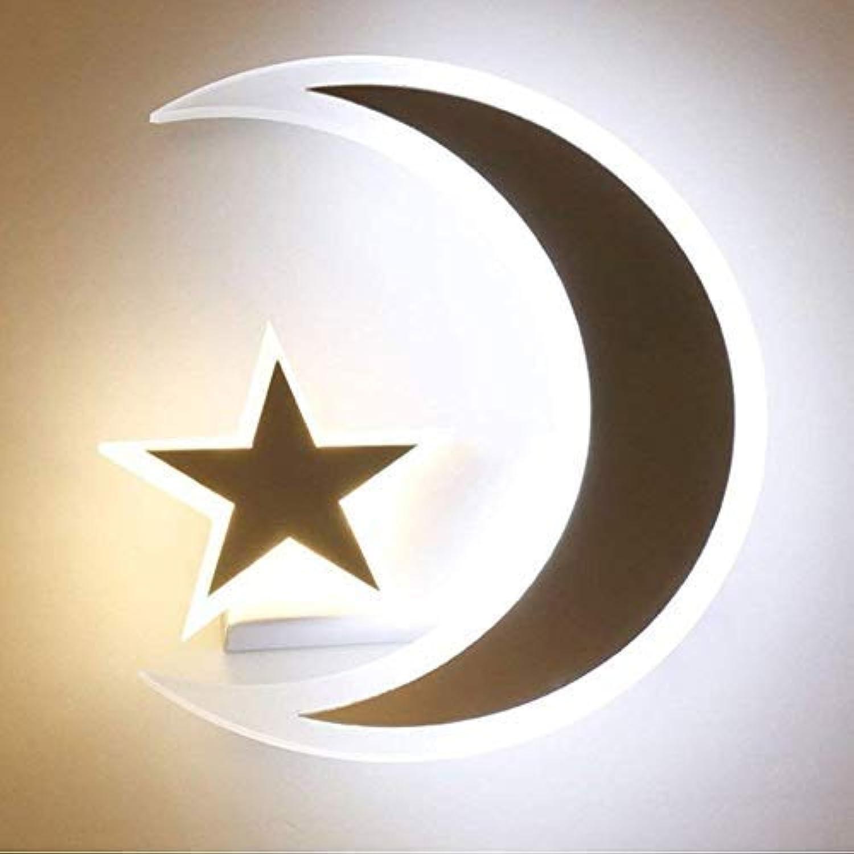 Welampa LED-Stern Mond Wand Lampe Kreative Kinderzimmer Schlafzimmer Nachttisch Lampen Gang Korridor Beleuchtung