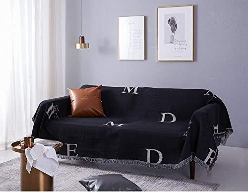 TongLingUSL Carta Simplicidad sofá de la Manta Lanza Manta de Punto de algodón de la Manta del sofá Viajes por Avión Sofá Sofá...
