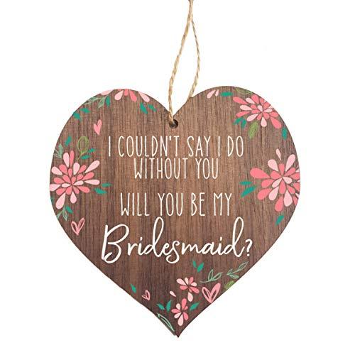 Geburtstagskarte für Brautjungfern, Aufschrift