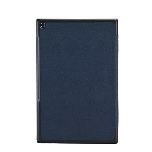 Awenroy Hülle für Sony Xperia Z2 Tablet Ultra dünn Smart Magnetische Abdeckung Hochwertiges PU mit Standfunktion Perfekt Geeignet für Sony Xperia Z2 Tablet - Navy Blau