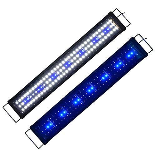 Powerdelux Aquarium LED Beleuchtung, LED Aquarium Beleuchtung mit Mondlicht, LED-Beleuchtung für Aquarien für Pflanzenwachstum mit Skalierbare Halterung (90-110cm)