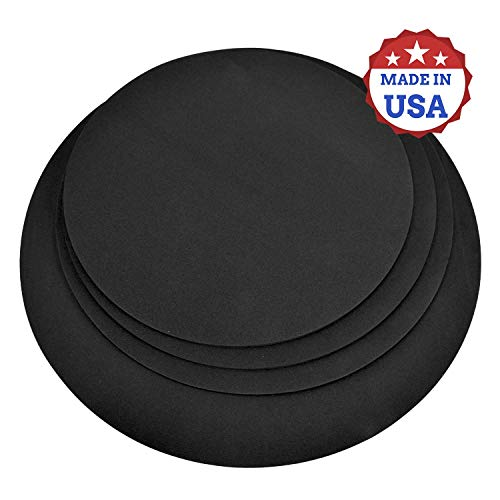 """4 Pack Drum Mute Pads, Fits 12,13,14,16"""" Drum dampeners, Practice on your Drums Anytime, Water Resistant, Made in USA"""
