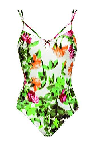 Maryan Mehlhorn, Damen Badeanzug ungefüttert mit Bügel, Chiné 4780 Dess. 709 (36D, Rose-Garden (225))