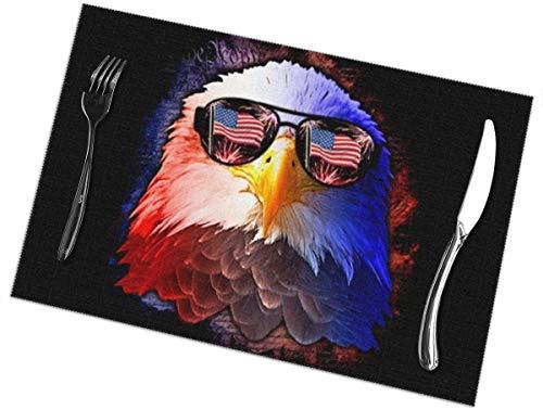 Juego de 6 manteles individuales para mesa de comedor, buceo, bandera de buceo, pintado a mano, lavable a mano, para mesa de cocina, 30,5 x 55,8 cm