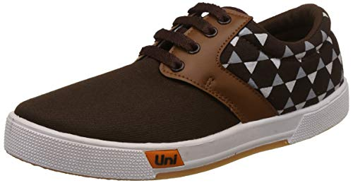 Unistar Men's Brown Sneakers-7 UK/India (41 EU) (E-5011)