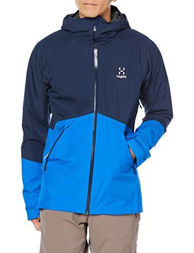 [ホグロフス] マウンテンパーカ、防水透湿 スクータ ジャケット Skuta Jacket Men メンズ Tarn blue/storm blue UK L (日本サイズXL相当)