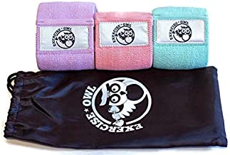 Fabric Resistance Exercise Bands For The Perfect Booty, Thick and Wide Non-Slip Resistance Booty Bands, Butt Hip and Leg Workout Bands-3 Pack-Fitness Loop Band-Resistance Loop Band-Includes Travel Bag