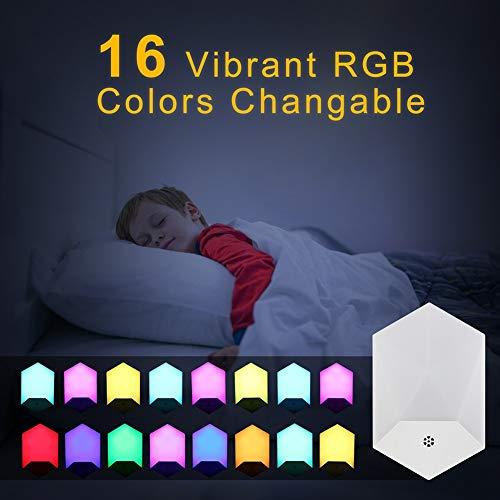 Led-nachtlampje met afstandsbediening, 16 kleuren wisselen/4 modi voor kinderkamer, woonkamer, garage, badkamer, hal