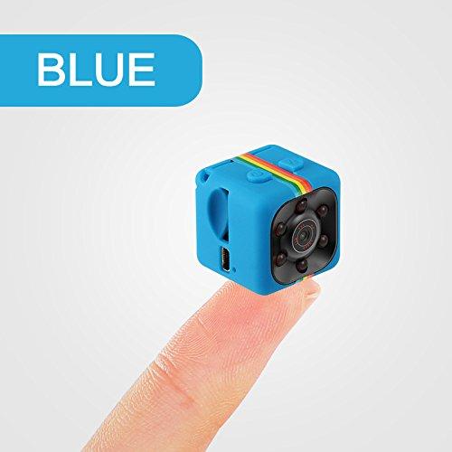 Beautiful Pine Hermosa cámara Oculta del Kiefern-1080P Minispion, cámara de vigilancia inalámbrica con detección de Infrarrojos, 140 Grados de ángulo Amplio de detección de Movimiento, Azul