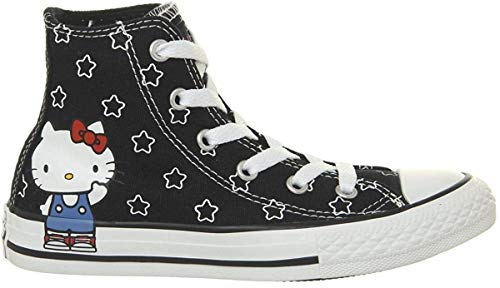 Converse All Star Hi Mid Sizes Black White Directoire Blue Hello Kitty - 2 UK