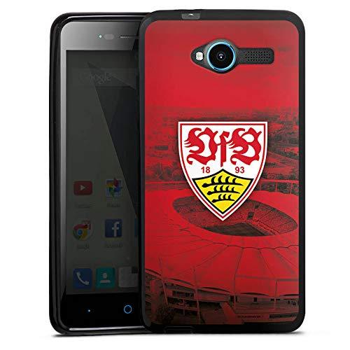 DeinDesign Silikon Hülle kompatibel mit ZTE Blade L3 Case schwarz Handyhülle VfB Stuttgart Stadion Offizielles Lizenzprodukt