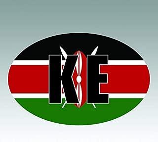 RDW Kenya Oval Sticker - Die Cut - Decal - KE v4 Country Code Euro - Size: 4.99
