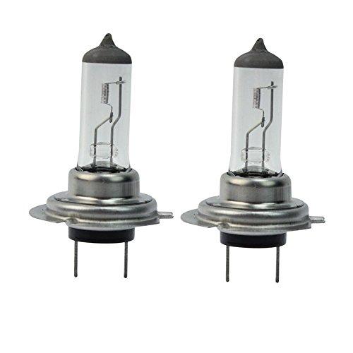 Pinzhi Lot de 2 H7 halogène avant de voiture pour phares d'éclairage Super Lumineux Ampoule 55 W 12 V