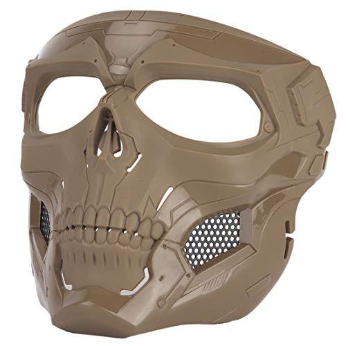 Godnece Airsoft-Helm, taktische Maske, Militär, Totenschädel, Schutzmaske, für Kinder, Erwachsene, für Fast Nerf, Paintball, Wargame, CS Cosplay, Halloween