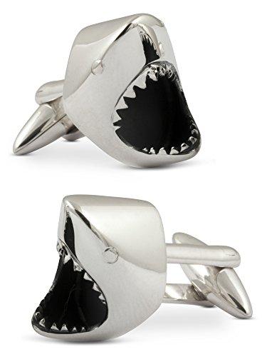 ZAUNICK Der Weiße Hai Manschettenknöpfe Silber 925 handgefertigt