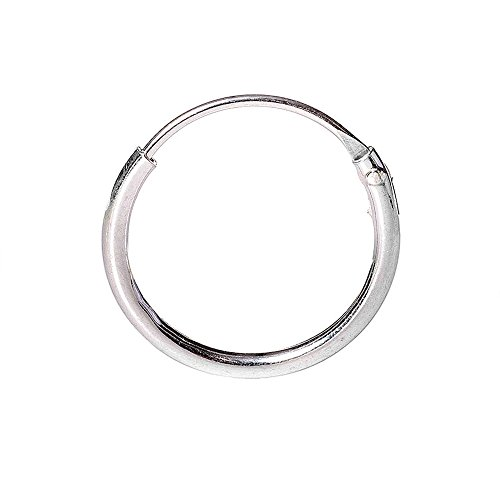 Blue Banana Body Piercing Silver 1.2 x 12mm Nose Ring (Silver) - 1.2 x 12mm