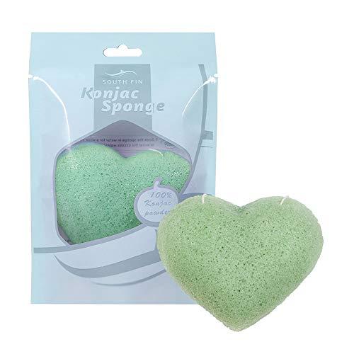 100% natuurlijk Konjac spons puff gezichtswasmiddel gezichtsreiniging gereedschap diepe reiniging groen (aloë green)