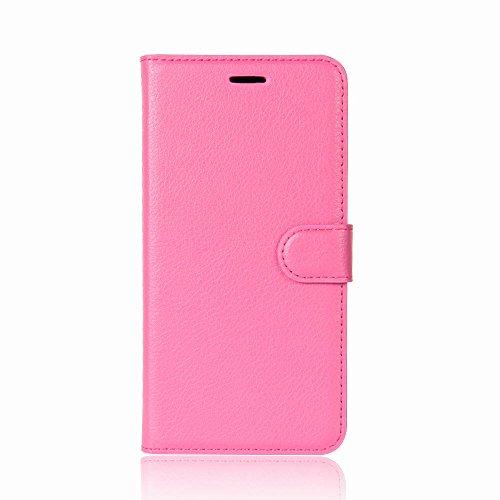 ROCKWEY Für Oukitel K5 Hülle, Mobile Phone Flip Wallet Leather case Flip case für Oukitel K5-Rose Red