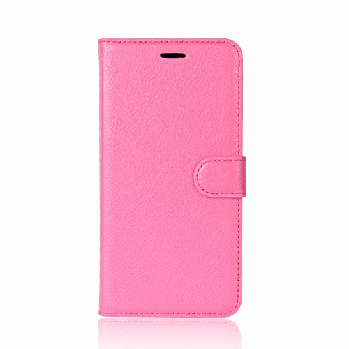 Suitable for Samsung Galaxy A8 2018 / A530F / A730F Phone Case, Crazy Horse Pattern Leather and TPU Soft Shell Material,Two-fold Bracket Protective Sleeve. (Rose Red,A530F)